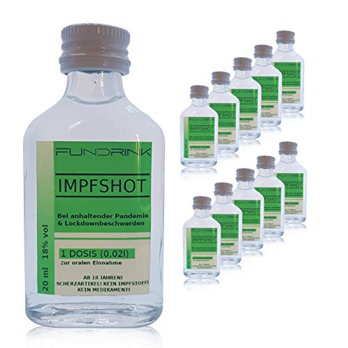 Impfshot - Pfefferminzlikör 18% vol 0,02l Minis | IMPFSHOT | Scherzartikel (10er Pack)