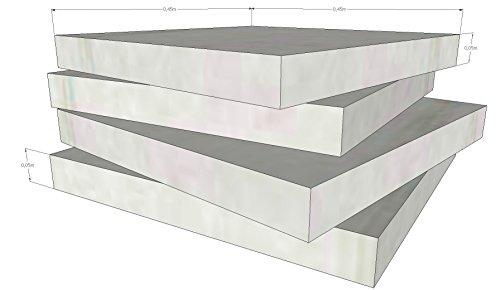Schaumstoff Platten Set 4 Stück a 45 x 45 x 5 cm sehr feste und langlebige Qualität (RG40 SH60)