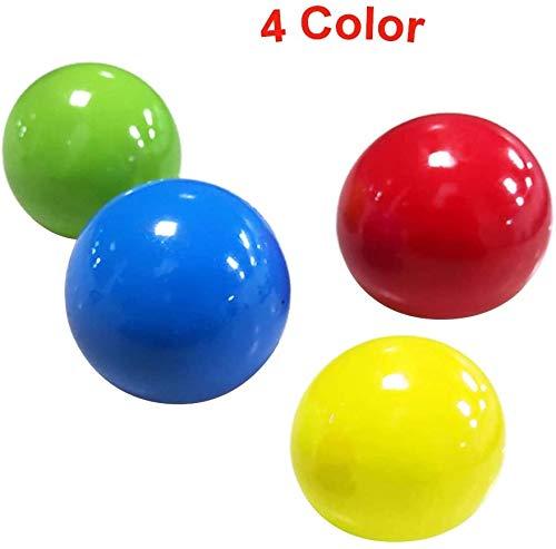 QoFina Sticky Globbles Ball Stress Spielzeug, Fluoreszierende Klebrige Wand Ball Farbwechsel Squishy Stress Bälle,Stretch Squeeze Stress Balls Spielzeug (4 STÜCK)