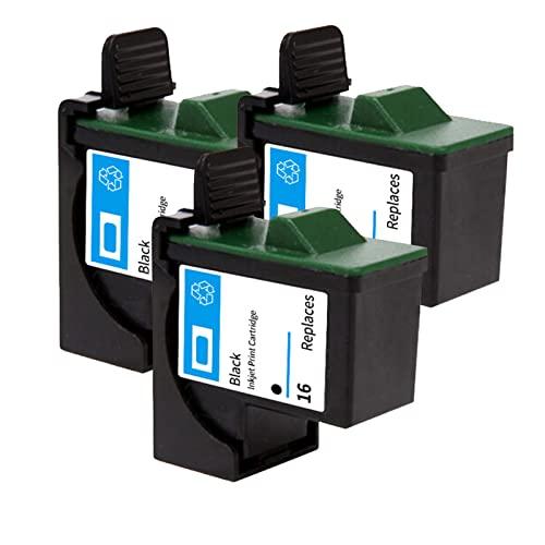 YQDZ Reemplazo De Cartuchos De Tinta Compatibles Adecuado para Lexmark 16 Lexmark 26, para Lexmark Z13 Z33 Z35 Z603 Impresoras De Inyección De Tinta 3*Black