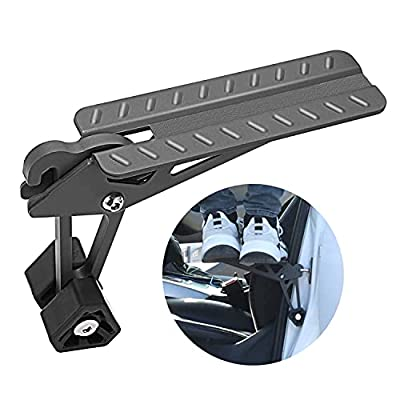 COWVIE Foldable Car Door Step Stand Pedal - Access to Vehicle's Top Roof Both Feet Stand Pedal Ladder for Most SUV Truck Jeep Black (Fit F150)
