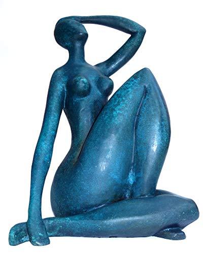 augustandmarch Bronce Escultura Figura Mujer Azul Akt II Mujer Bolígraf de Escultura Modern Art Escultura de Bronce como Homenaje a Matisse