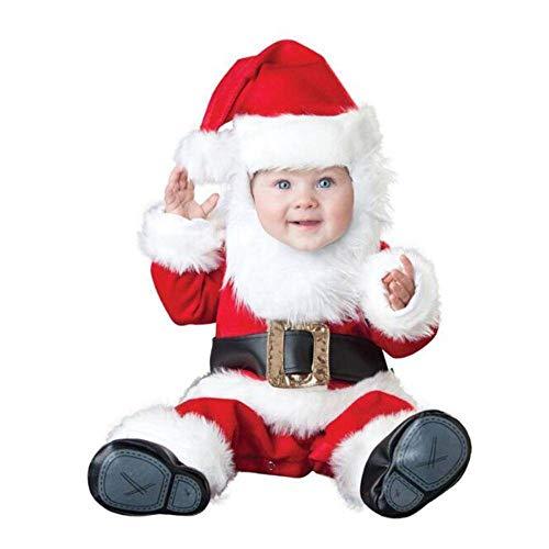 N-B Niños Peleles Muñeco de Nieve Alce Elfo Santa Claus Ropa Niños Mameluco Niños y Niñas Mono Disfraces de Navidad