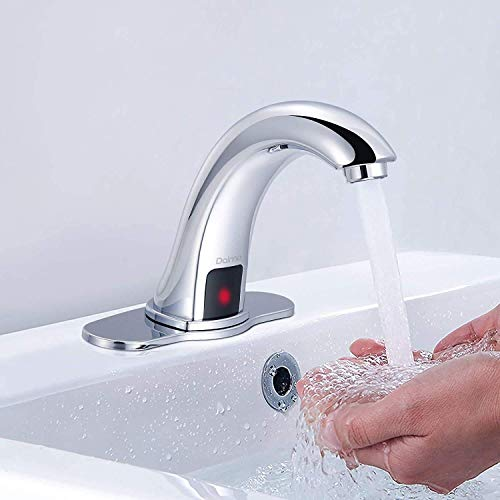 Bathroom Basin Sink Faucet Chrome Finish Waterfall Lavatory Tap Mixer w//Cover