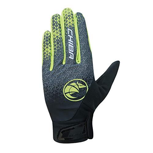Chiba BioXCell Touring Fahrrad Handschuhe lang grau/neongelb 2021: Größe: M (8)
