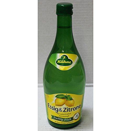 Kühne Essig & Zitrone Essig mit natürlichem Zitronensaft (0,75ml Flasche)