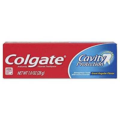 Central Sales Company Colgate Cavity Protection Fluoride Toothpaste, Great Regular Flavor, Travel Size Tsa Approved, 1 Oz