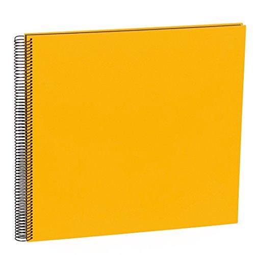 Semikolon (352898) Spiral Album Large sun (gelb) - Spiral-Fotoalbum mit 50 Seiten u. Efalin-Einband -Spiralfotobuch mit schwarzem Fotokarton