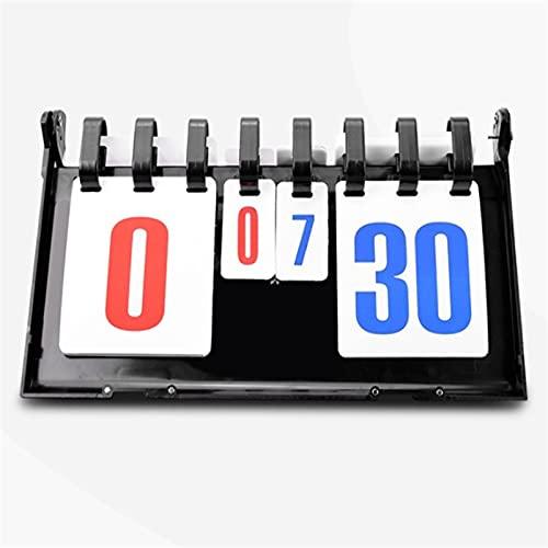 yaunli Marcador de partidas plegable de bádminton marcador de fútbol marcador de voleibol, rotación de voleibol, marcador digital (color: negro, tamaño: 38 x 21,5 x 19 cm)