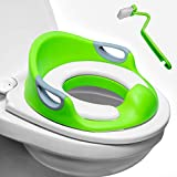 Potty Training Seat for Boys & Girls | Detachable Soft Cushion | Sturdy Handles | Urine Splash Guard | Non-Slip Rubber Grip | Includes Free Brush- Magic Baby