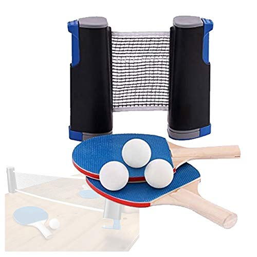 Best Review Of ZXXY Indoor Outdoor Instant Ping Pong Ball Set, Table Tennis Set Game with 2 Rackets/...