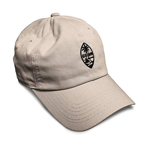Speedy Pros Soft Baseball Cap Seal of Guam Embroidery Cotton Dad Hats for Men & Women Flat Solid Buckle Stone Design Only