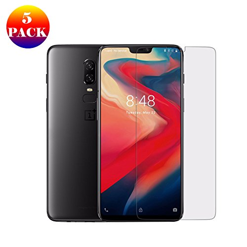 OnePlus 6 Screen Protector Film GOGODOG [5 Pack] Anti Fingerprint Crystal Clear Invisible HD Transparent Premium Foil for One Plus 6