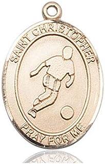 DiamondJewelryNY 14kt Gold Filled St Christopher//Basketball Pendant