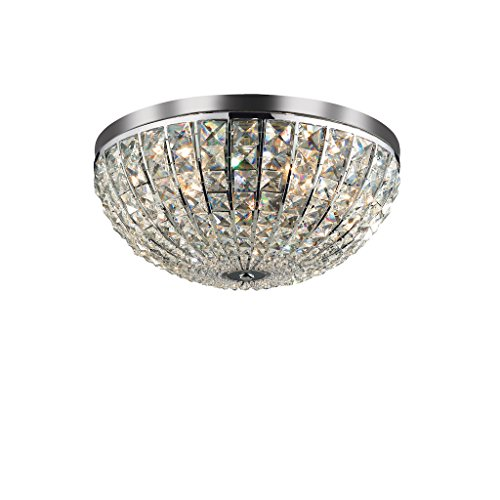 Ideal Lux CALYPSO PL6 Indoor E14 Chrome – Wall Lighting (Surfaced, Bathroom, Bedroom, Entrance, Living Room, Study, Toilette, Indoor, Chrome, Chrome, Metal, IP20)