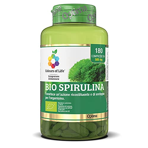 Colours of Life Colours of Life Bio Spirulina - Integratore di Spirulina platensis da Agricoltura Biologica 180 compresse - 90 g