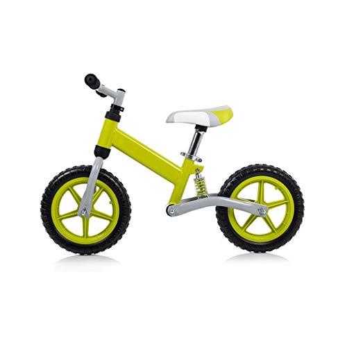 Trike triciclo triciclo triciclo para niños, ultraligero al aire libre para niños principiantes bicicleta estática – Doble rueda sin pedal 2 – 6 años de edad libre de carga, 3 colores (Co