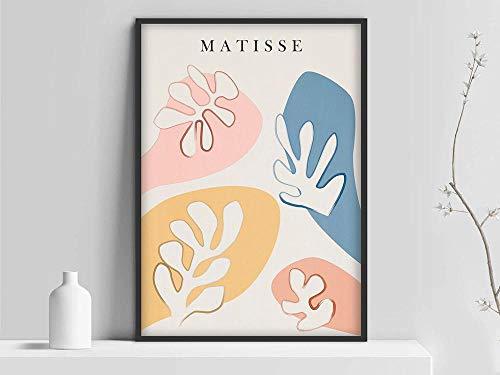 Impresión de hoja de Henri Matisse, Lámina de Matisse, Matisse los recortes, Póster de Matisse, Póster de arte de Matisse, Exposición de Henri Matisse Pintura decorativa sin marco familiar K 60x80cm