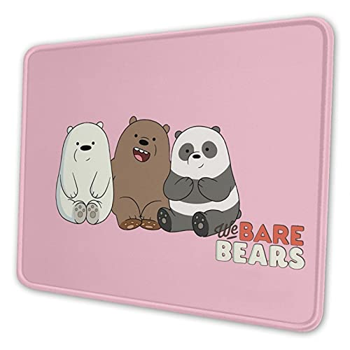 We Bare Bears Gaming Mouse Pad with Non-Slip Base and Stitched Edges for Laptop Mouse Pads