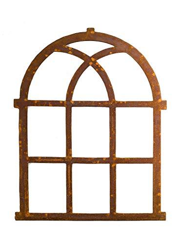 aubaho Nostalgie Stallfenster Fenster 72x58cm Eisen Eisenfenster antik Stil Rost Rahmen