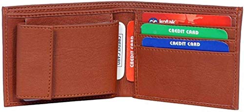 MS Collection Brown Leather Men's Wallet (MS-1)