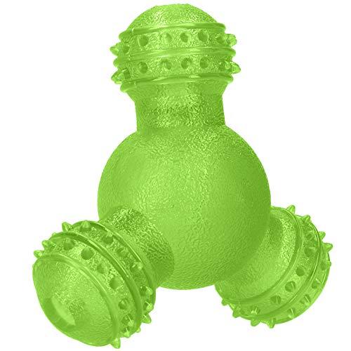 FOLOSAFENAR Pet Food Leak Toy Ungiftig Sicher und langlebig Automatische Tierfütterung Hundezahnreinigungsball Tiernahrungsball für kleine und mittlere Hunde(Green)