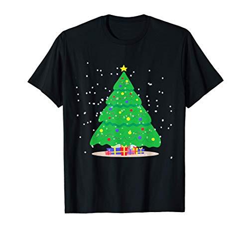 Albero di Natale decorato con ghirlande e palline Maglietta