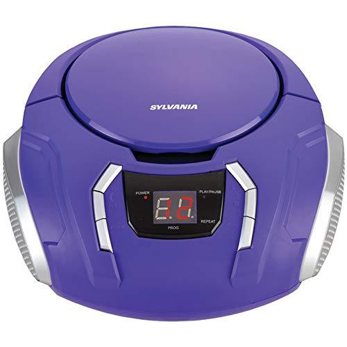 Sylvania SRCD261B Portable CD Boombox with AM/FM Radio (Purple)
