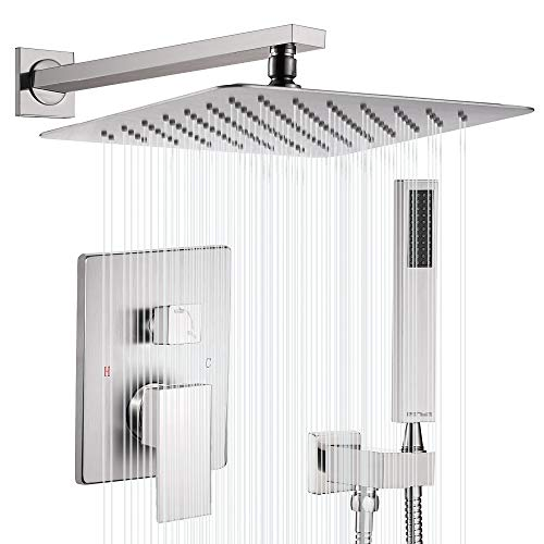 Esnbia Shower System, Brushed Nickel Shower Faucet Set with...