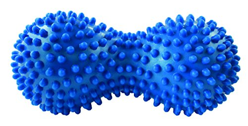 TheraPIE Peanut Massageball | Handmassage | Fußmassage | Igelball | mit Noppen | Farbe blau