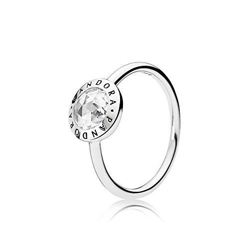 Pandora Women Silver Signet Ring - 191029CZ-52