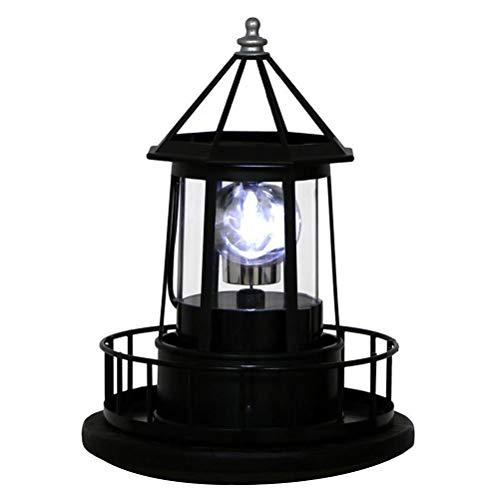 Oyria Solar LED Leuchtturm Licht Garten Hof Rasen Lampe Licht 360 Grad drehbare Beleuchtung für die Dekoration im Freien Garten Zaun Tür Hof Garage Weg