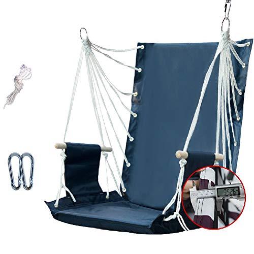 Balançoires YXX Corde Suspendu Hamac Chaise Porche Siège de, 2 Crochets, Capacité de 100 kg, Haute 50cm / 70cm, Bois Accoudoirs, 3.5cm épais (Size : High 70cm)