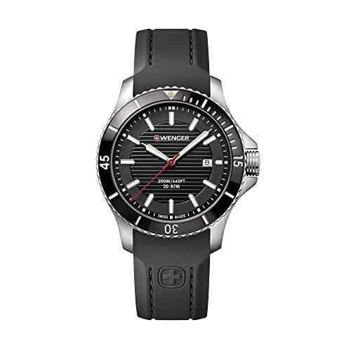 Wenger Herren Seaforce - Swiss Made Analog Quarz Edelstahl/Gummi Uhr 01.0641.117