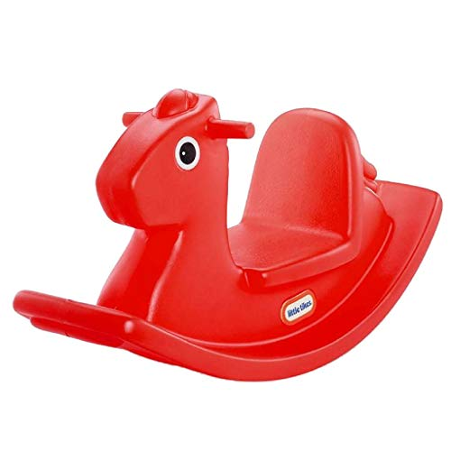 Little Tikes Cheval à bascule – Jouet Classique d'intérieur et de plein air – Cheval à bascule résistant et divertissant – Encourage le jeu – Pour les petits âgés de 12 Mois à 3 ans - Rouge