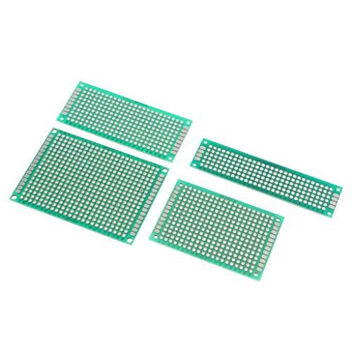 ShiSyan 4 Piezas 5x7 4x6 3x7 2x8cm Doble Lado PCB Prototipo for Protector de la Placa de Bricolaje