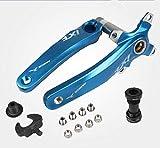 IXF Fahrrad-Kurbelsatz, Mountainbike-Kettenrad, 170 mm, 104 BCD mit Tretlager-Kit und Kettenblattschrauben für MTB, BMX, Rennrad, kompatibel mit Shimano, FSA, Gaint (blau)