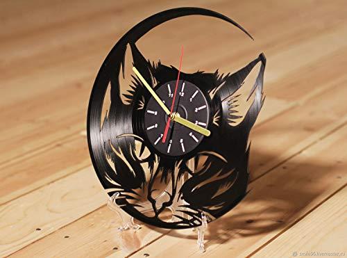 wtnhz Reloj de Pared con Disco de Vinilo LED with LED-Reloj de Pared con Disco de Vinilo Movimiento de Cuarzo decoración de la Vida hogareña