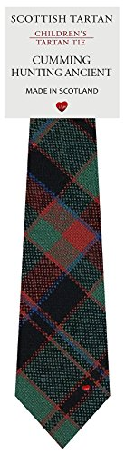 I Luv Ltd Garçon Tout Cravate en Laine Tissé et Fabriqué en Ecosse à Cumming Hunting Ancient Tartan