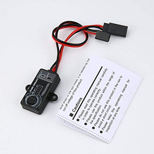 James Products GT Power Pantalla LCD Interruptor electrónico RC Parte para Quadcopter Car Drone Negro