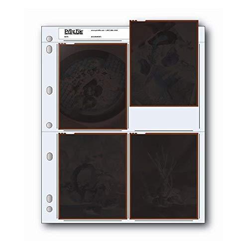 50pcs/lot Print File 4x5 Inch Negatives Pages Sleeves Film Archival Preservers 45-4B darkroom Photo Enlarging Paper