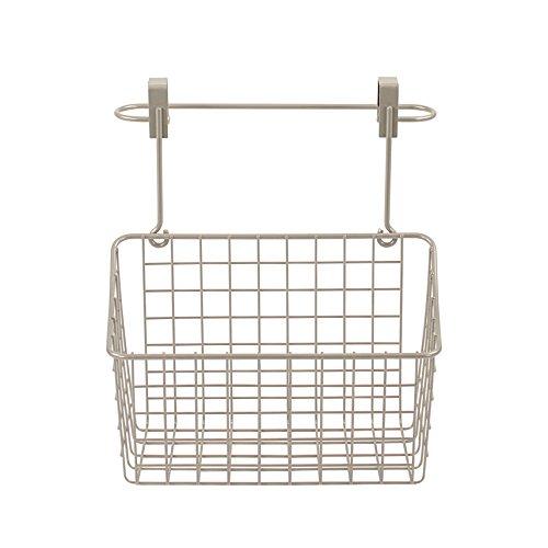 Spectrum Diversified Duo Towel Bar & Medium Basket No Installation 2-in-1 Cabinet Basket & Towel Bar, Under Sink Rustic Farmhouse Storage & Organization, Satin Nickel