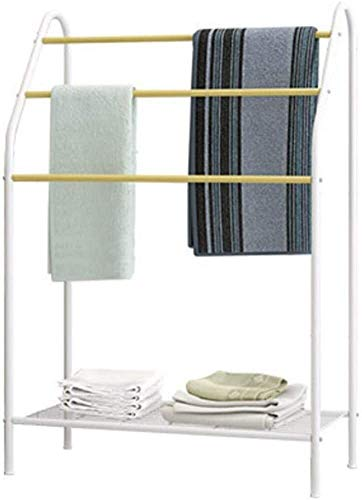 Towel holders Soporte Toalla Perchero, Moderna Simple de Acero Inoxidable de Toallas for baños Balcón, 60X 28 X 83 Cm