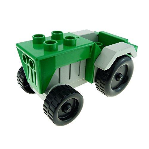 1 x Lego Duplo Fahrzeug Traktor grün hell grau Auto Bauernhof Tier Hof Set 9133 klein tractor