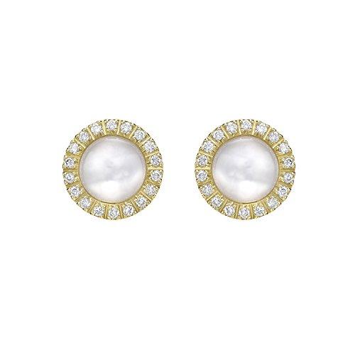 Roberto Marroni Orecchini da Donna 18 carati Diamante Bianco Rotondo