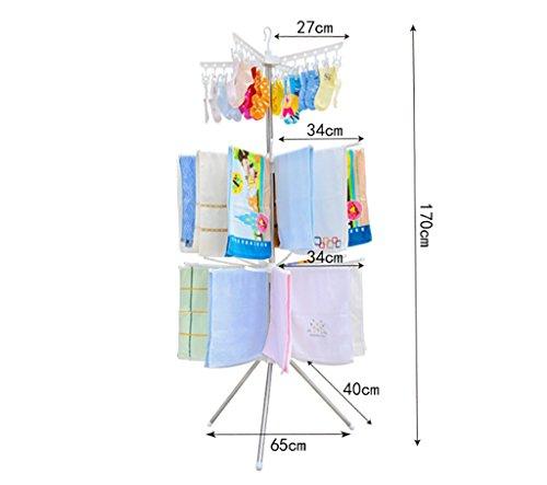 Estante de la ropa del bebé, perchero del balcón del piso que dobla, marco del pañal del bebé, niños que doblan el estante de sequía del paraguas ( Color : B )