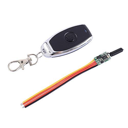 Micro Power Controlador de Fuente de Alimentación Inalámbrico Interruptor sin Bloqueo Módulo Transceptor Inalámbrico RF 2A DC 3.5V-12V Driver con 1 Módulo y 1 Control Remoto