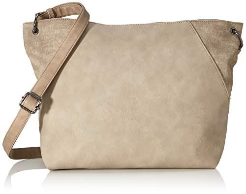 TOM TAILOR Damen Bria Umhängetasche, Beige (Taupe), 41x30x13 cm, TOM TAILOR Taschen für Damen, Handtasche, Schultertasche, Hobo