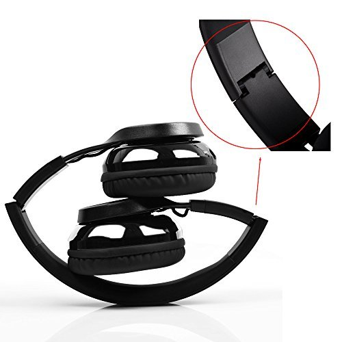 AGPTEK Wireless Bluetooth Headphone, Bluetooth 4.0 Headset with Stereo Foldable Build-in Mic Over-Ear for Mobile Phones, Laptops, Tablets, Smartphones iPhone 7/7Plus Samsung Galaxy S7/S7E