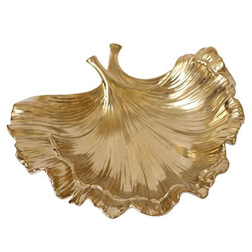 Betty & Co Schmuck Schmuckschale Obstschale - Gold Keramik Dekoration Obstteller Porzellan Obstschale Halter Handwerk Geschenke, Home Ornamente
